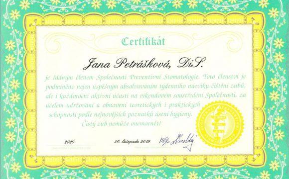Pravidelný recall ve Společnosti preventivních stomatologů